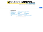 SEARCHMINING.com - search the web for mining information