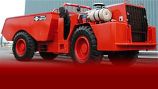 DUX DT12 dumper for narrow vein mining and easy maneuverability in confined areas