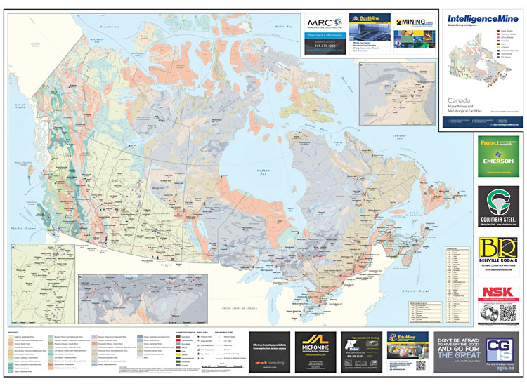 Canada Mining Map