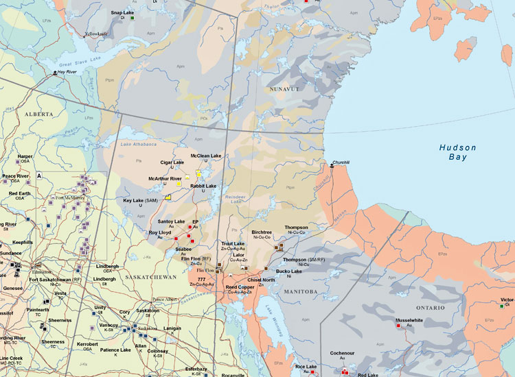 Major Mines and Metallurgical Facilities of Canada